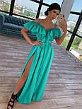 Довге плаття з воланом на грудях і бретелями 66031466Q, фото 4