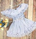 Шифоновое летнее платье с воланом на груди и оборками 79031482, фото 3