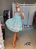 Шифоновое летнее платье с воланом на груди и оборками 79031482, фото 4