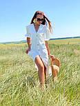 Лляне плаття літнє із зав'язкою на грудях і рукавом-ліхтариком 36031484, фото 2