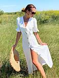 Лляне плаття літнє із зав'язкою на грудях і рукавом-ліхтариком 36031484, фото 3