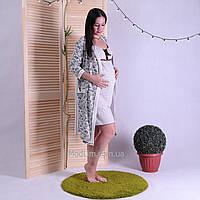 """Комплект хлопковый халат с ночной для будущих и кормящих мам """"Venzil-Gold"""" р.42-54"""