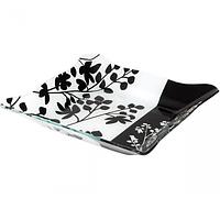 Салатник прямоугольный (30,5*30,5*3,5см) (Черное и белое)(6шт в упаковке)