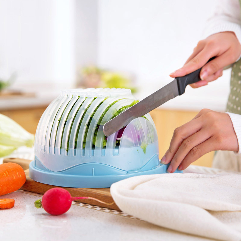 🔥 Чаша овощерезка для салатов Salad Cutter Bowl для нарезки овощей и фруктов