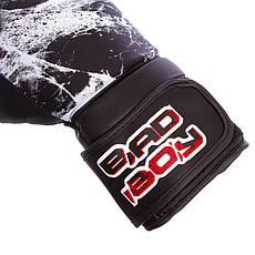 Перчатки боксерские FLEX на липучке BAD BOY SPIDER 10 унций VL-6602, фото 3