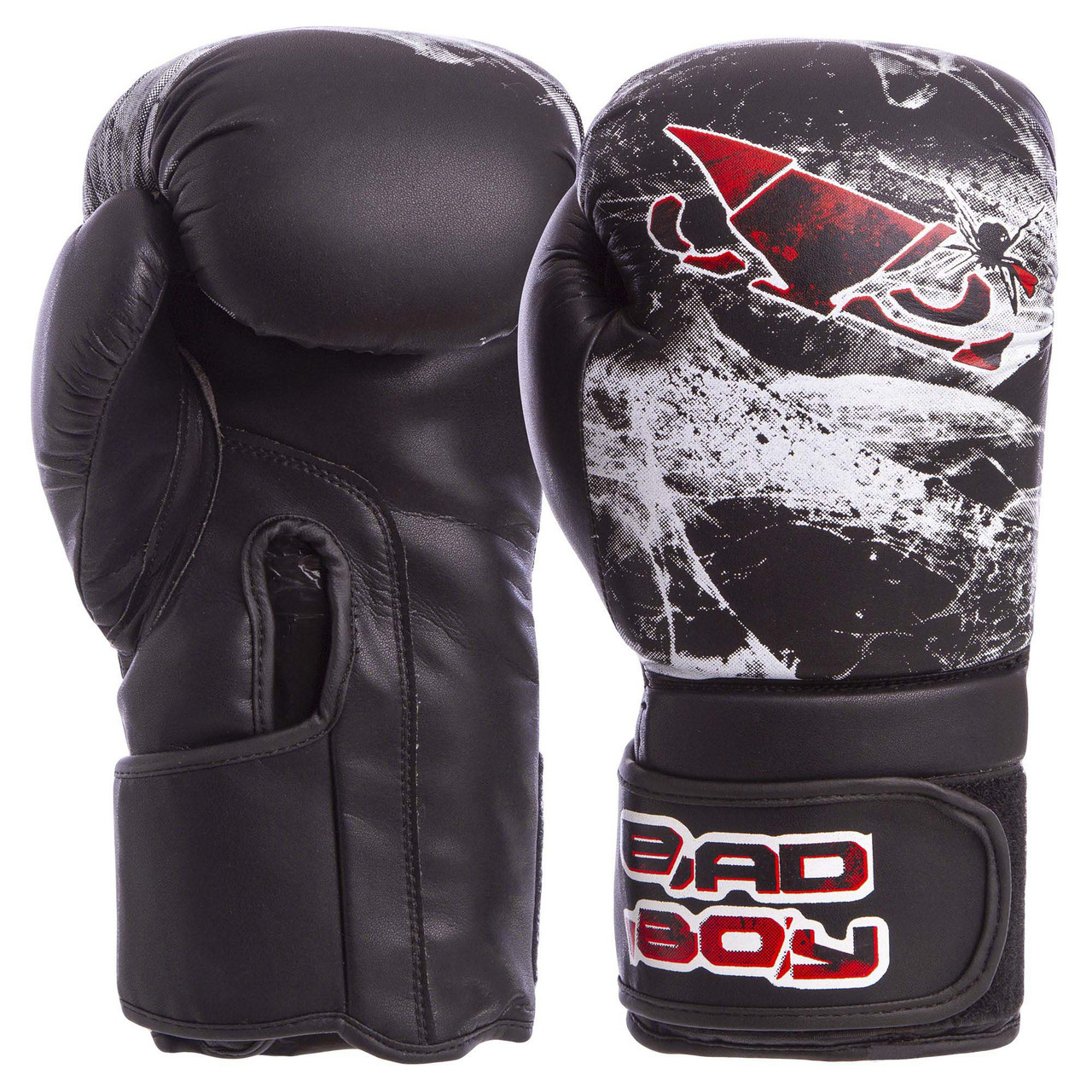Перчатки боксерские FLEX на липучке BAD BOY SPIDER 10 унций VL-6602