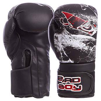 Перчатки боксерские FLEX на липучке BAD BOY SPIDER 10 унций VL-6602, фото 2