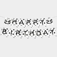 Гирлянда бумажная Happy birthday Панда