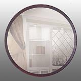 Зеркало круглое 600 мм венге, фото 3