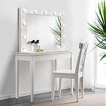 Зеркало с лампочками для макияжа 1000х800