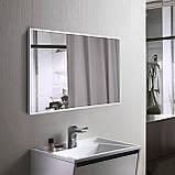 Ростовое зеркало в белой рамке, алюминий, фото 5