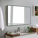 Зеркало в зеленой рамке, алюминий, фото 5