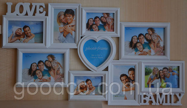 Настенная фоторамка Love&Family (9 фото)
