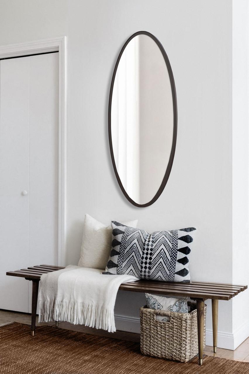 Зеркало в полный рост, овальное, венге 1300х600