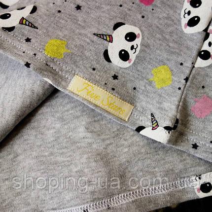 Реглан для девочки панды Five Stars KD0356-122р, фото 2