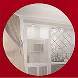 Зеркало на основе крашеного стекла 600х600, фото 3