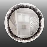 Круглое зеркало на основе ДСП 800 мм, фото 2