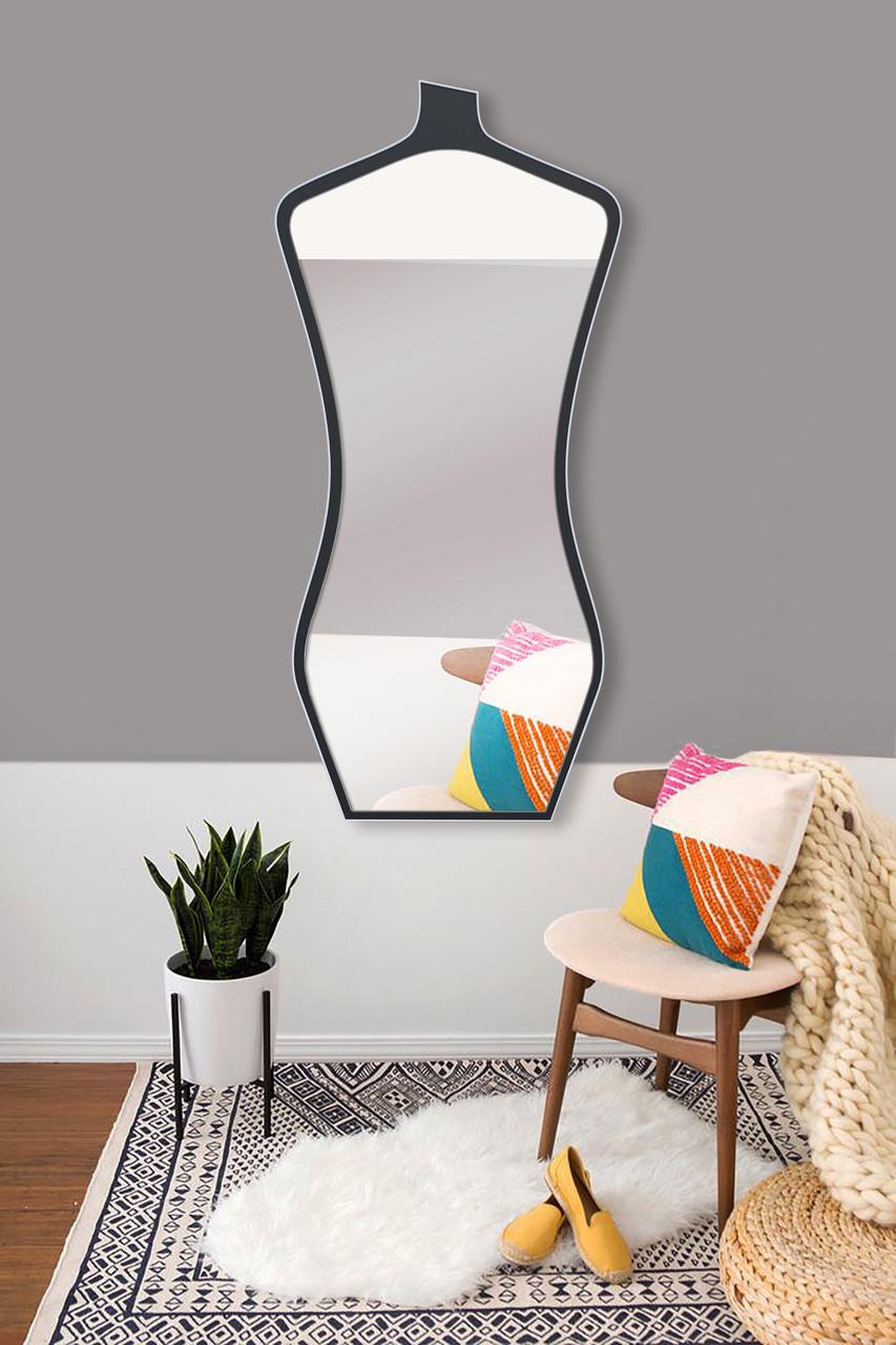 Зеркало во весь рост, черно - белое 1300х600 мм