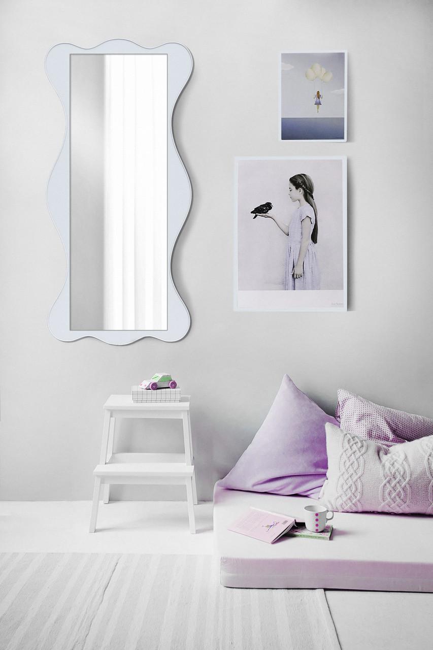 Настенное зеркало, белое 1300х600 мм