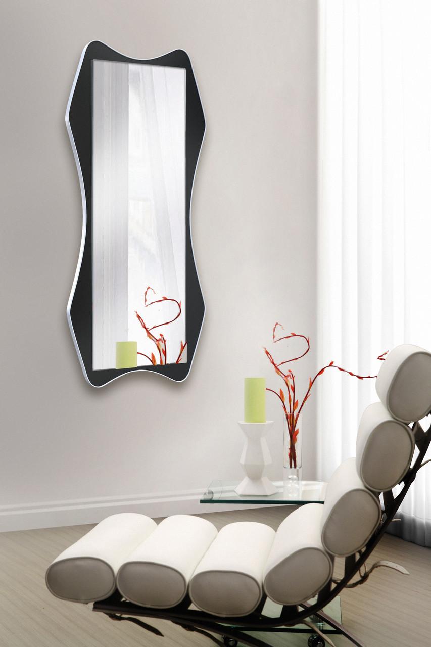 Зеркало на стену, черно- белое 1300х600 мм