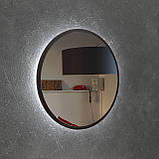 Круглое зеркало с подсветкой 800 мм венге магия, фото 3