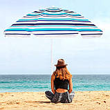 Пляжный зонт с регулируемой высотой Springos 160 см BU0006, фото 2