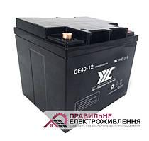 Гелева акумуляторна батарея JYC GE40-12