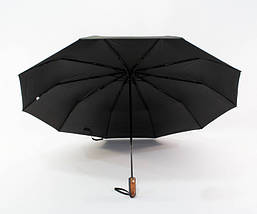 Зонт мужской автомат с большим куполом 123 см Max черный. Анти-ветер, 10 спиц (roz-0914), фото 3