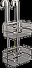 Полка двойная навесная для душа, Andex Sanibella 551cc
