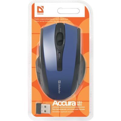 Мишка Defender Accura MM-665 (52667) Blue Wireless