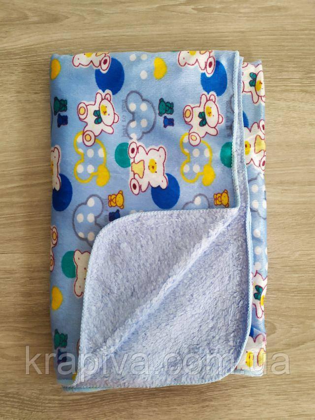 Плед детский 95*80см королевский флис, микрофибра софт, одеяло мягкое, одеяло теплое, плед дитячий, покривало