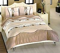 Красивое постельное белье, полуторка, волна