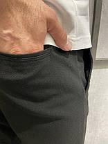 Мужские зауженные брюки черные с подворотом, фото 2