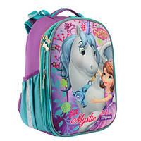 Школьный рюкзак для девочки 1 Вересня Sofia: каркасный, ортопедический ранец