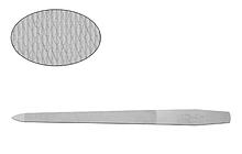 Суцільнометалева пилка з подвійними насічками Lady Victory LDV EBG-11B /22-0
