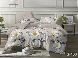 Комплект постельного белья полуторный с компаньоном S406 сатин люкс