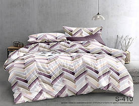 Комплект постельного белья полуторный с компаньоном S410 сатин люкс