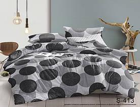 Комплект постельного белья полуторный с компаньоном S413 сатин люкс