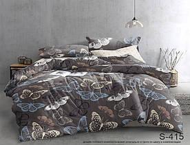 Комплект постельного белья полуторный с компаньоном S415 сатин люкс