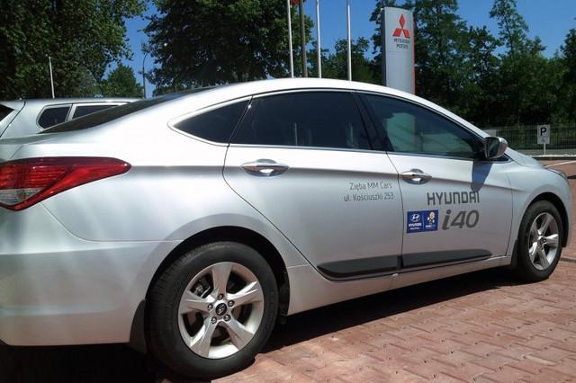 Молдинги боковые для Hyundai i40 2012->, PUR  седан