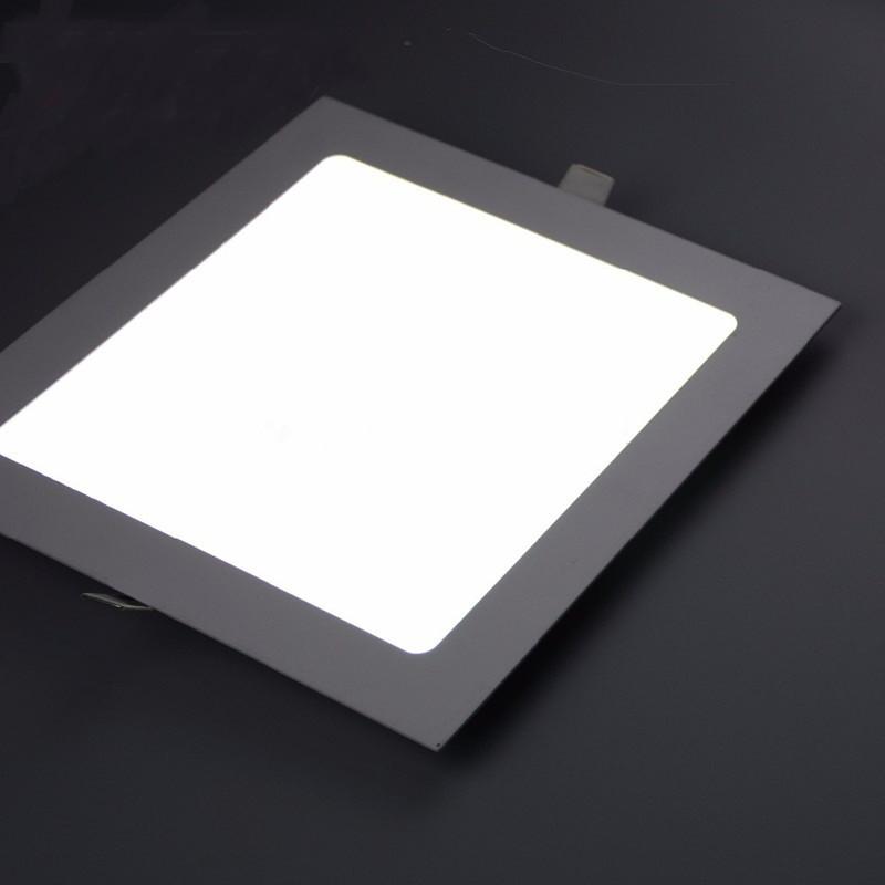 Светодиодный встраиваемый светильник квадрат 15W Slim/Sq-15 Horoz 6400К