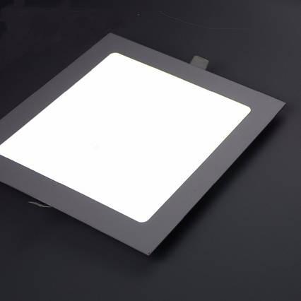 Светодиодный встраиваемый светильник квадрат 15W Slim/Sq-15 Horoz 6400К, фото 2