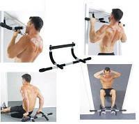 🔥 Универсальный домашний тренажер турник Iron Gym в дверной проем, фото 1