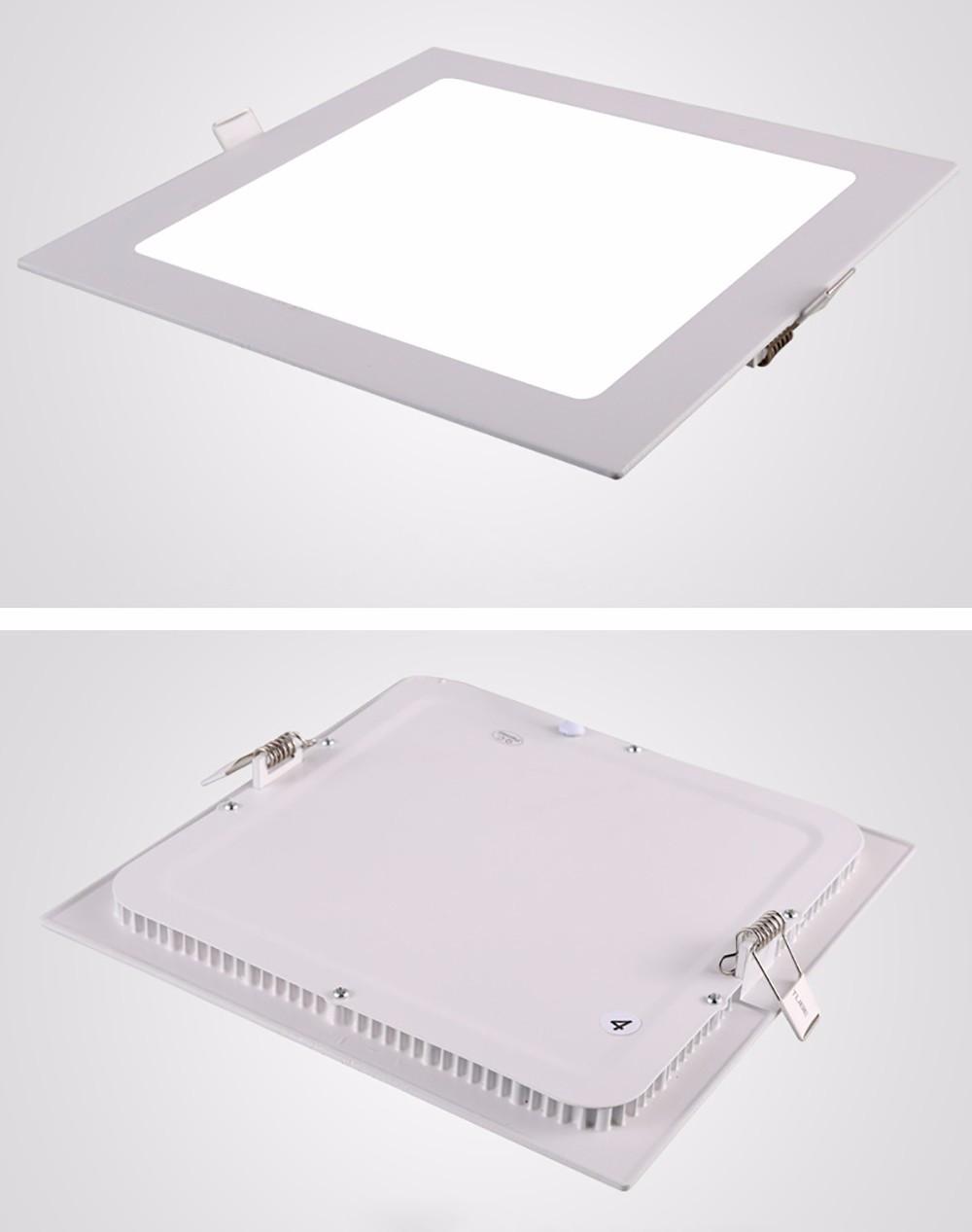 Світлодіодний вбудований світильник квадрат 6W Slim/Sq-6 Horoz 3000K