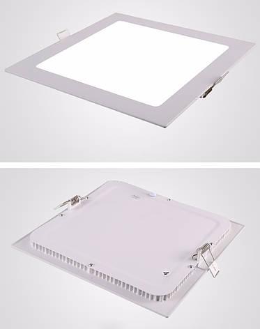 Світлодіодний вбудований світильник квадрат 6W Slim/Sq-6 Horoz 3000K, фото 2