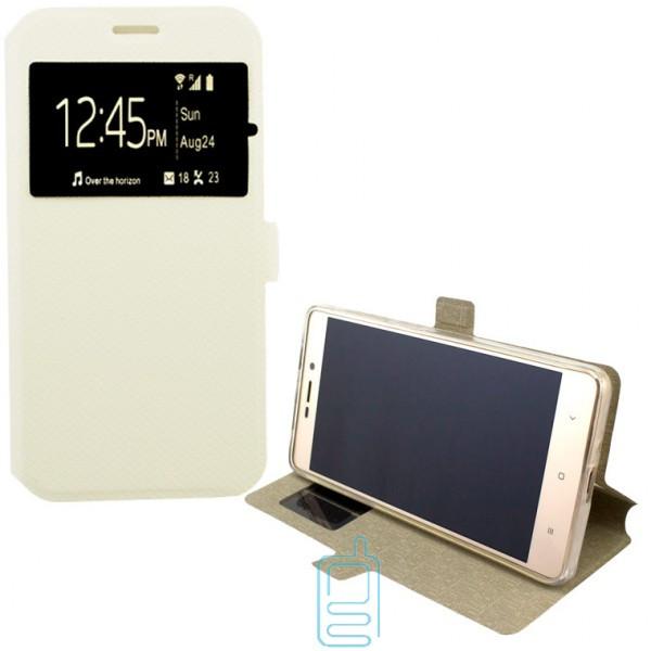 Чехол-книжка Modern 1 окно Samsung J1 2015 J100 белый