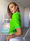 Женская прямая футболка поло с треугольным вырезом 3ma356, фото 2