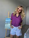 Женская прямая футболка поло с треугольным вырезом 3ma356, фото 5