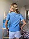 Женская прямая футболка поло с треугольным вырезом 3ma356, фото 6