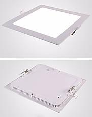 Светодиодный встраиваемый светильник квадрат 6W Slim/Sq-6 Horoz 4200K, фото 2